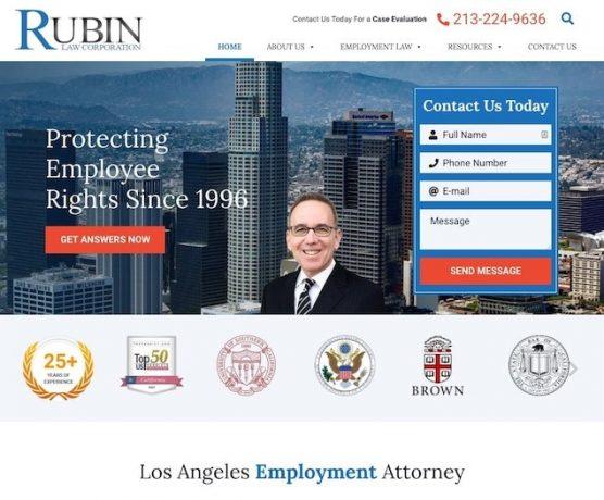 The Rubin Law Corporation Website