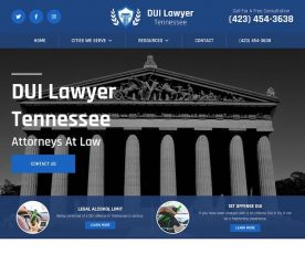 DUI Lawyer Tennessee Web Design