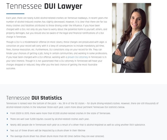 DUI Lawyer Tennessee