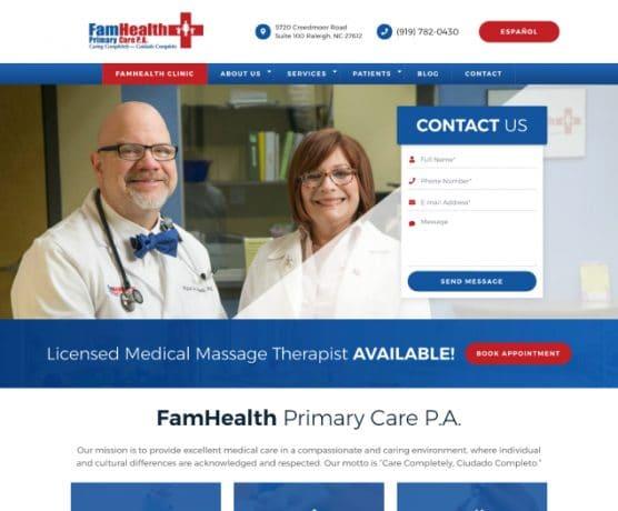 FamHealth Primary Care Web Design
