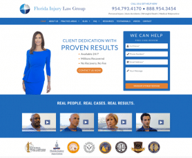 Florida Injury Law Group Web Design