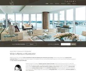 Natalia H Interiors Web Design