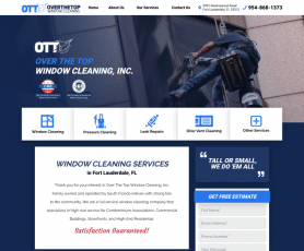 Over The Top Window Cleaning, Inc. Web Design