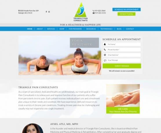 Triangle Pain Consultants Web Design