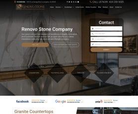 Renovo Stone Company Web Design