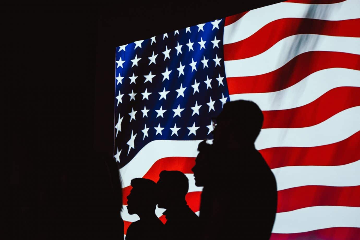 silhouette-of-people-beside-usa-flag-1046399