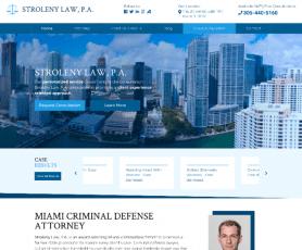 Stroleny Law, P.A Web Design