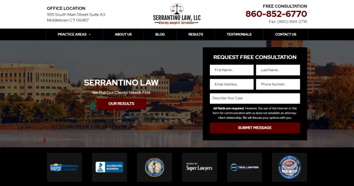 Serrantino Law, LLC Website