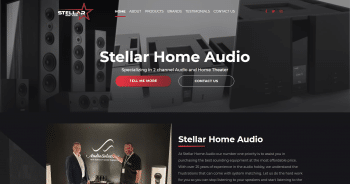 Stellar Home Audio Web Design