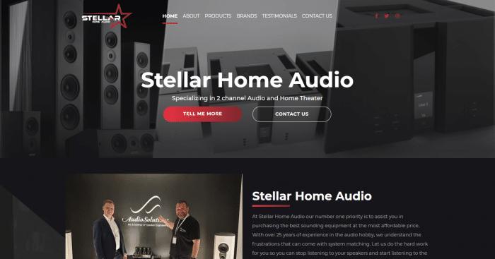 Stellar Home Audio Website
