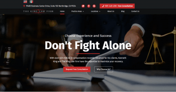The King Law Firm Web Design