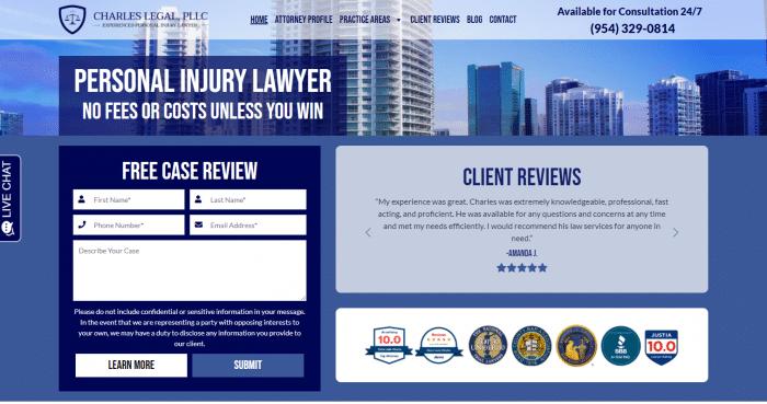 Charles Legal, PLLC Website