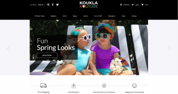 Koukla Kouture Web Design