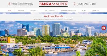 Panza, Maurer &  Maynard, P.A. Web Design