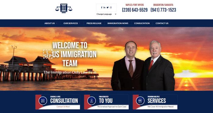 U.S. Immigration Team Website