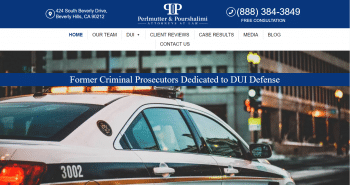 Perlmutter & Pourshalimi Attorneys At Law Web Design