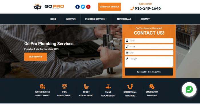Go Pro Plumbing Web Design