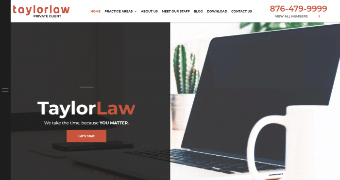 Robert J. Taylor Attorney At Law Website