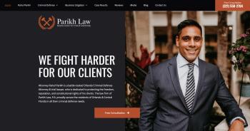 Parikh Law, P.A. Web Design