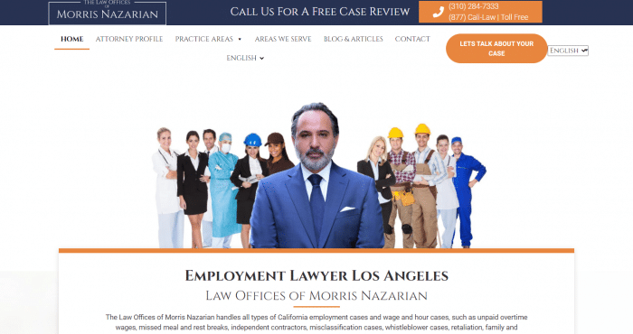 Law Offices Of Morris Nazarian Website