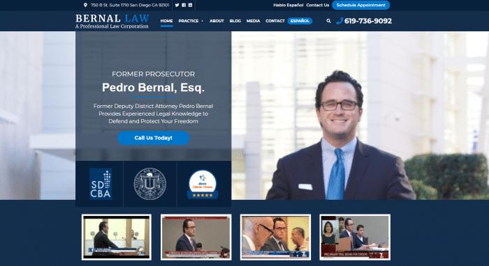 Bernal Law-A Professional Law Corporation Website