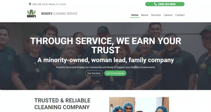 Roger's Cleaning Company Website