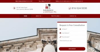 Lourenco & Linville, P.C. Web Design