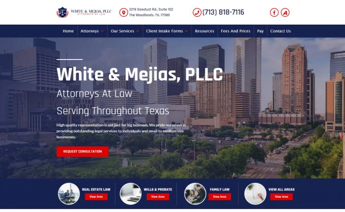 White & Mejias, PLLC Website