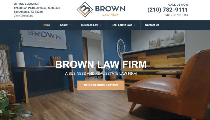 Brown Law Firm Website