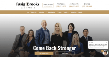 Fasig & Brooks Law Offices Web Design