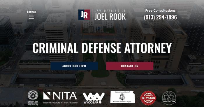 Law Offices of Joel Rook Website