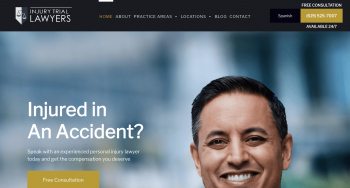 Injury Trial Lawyers, APC Web Design