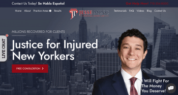 Jesse Minc Personal Injury Law Web Design