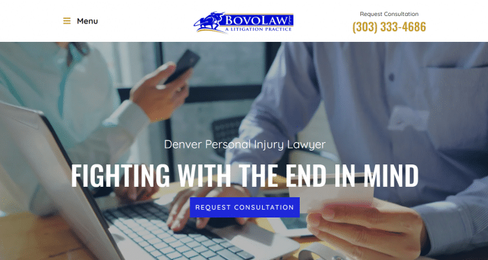 Bovo Law Website
