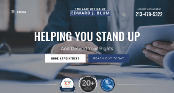 The Law Office of Edward J. Blum Web Design