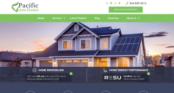 Pacific Green Homes Web Design
