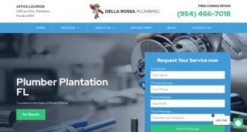 Della Rossa Plumbing Web Design