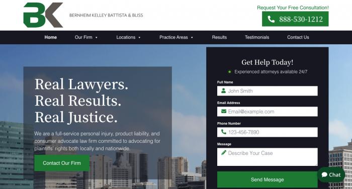 Bernheim Kelley Battista & Bliss, LLC Website