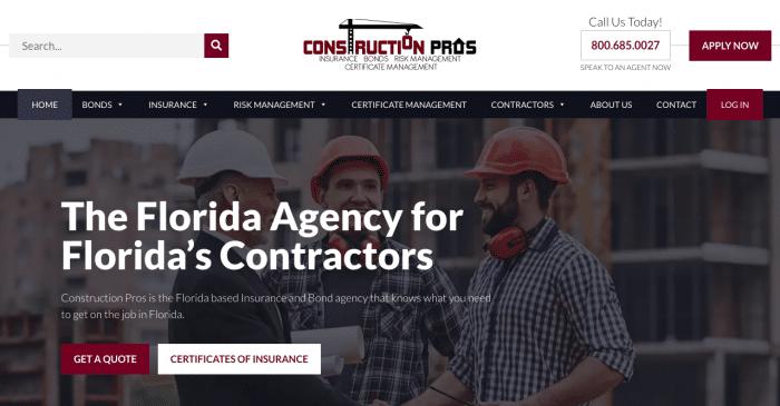 Construction Pros Website