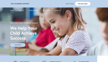 Bay Academic Support Web Design