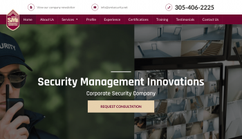 Security Management Innovations Web Design