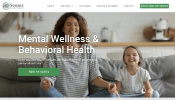 Synergy Mental Wellness Web Design
