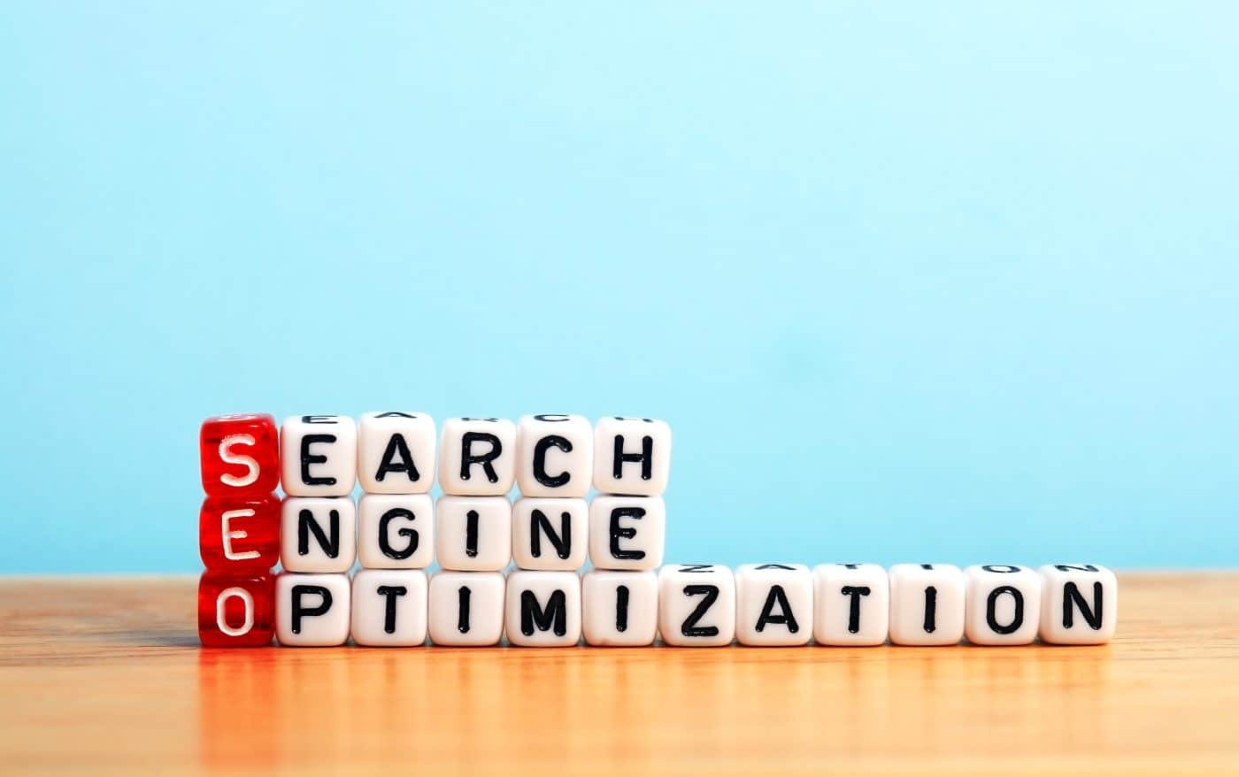 Search Engine Optimization displayed on dices