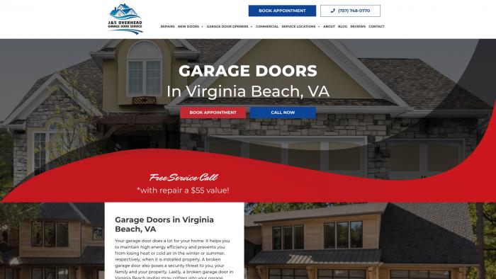 J&S Overhead Garage Door Service Website