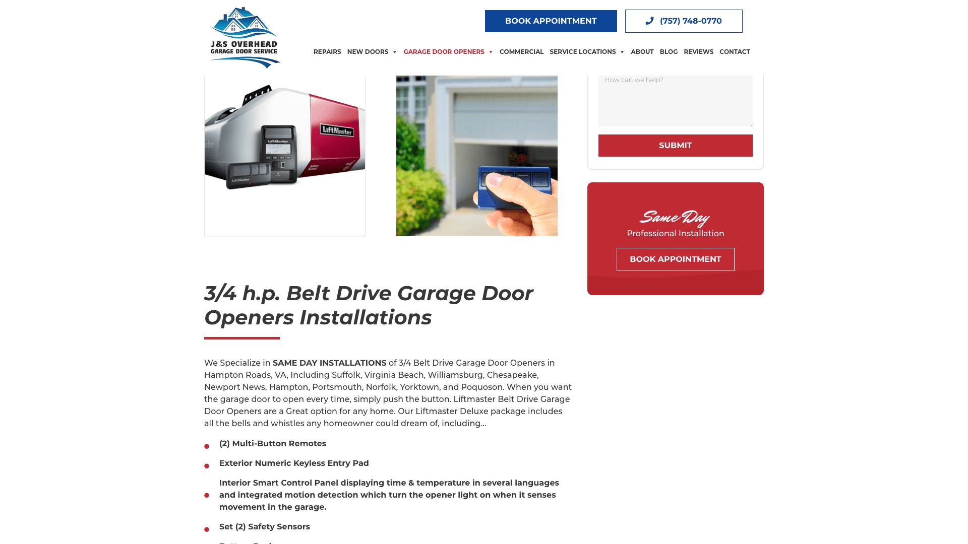 J&S Overhead Garage Door Service