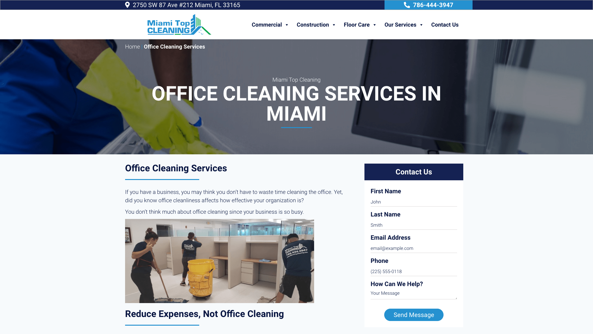 Miami Top Cleaning-Cleaning Company